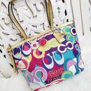 Coach Poppy C Graffiti Tote Shopper Bag F19434